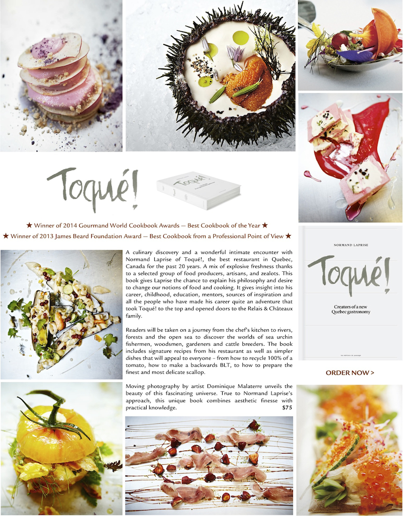 Toqué! by Normand Laprise: Best Cookbook of the Year